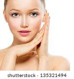 beauty girl portrait. beautiful ... | Shutterstock . vector #135321494