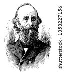 Lyman Abbott 1835 to 1922 he was an American author editor and Congregationalist theologian vintage line drawing or engraving illustration