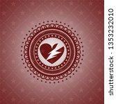 broken heart icon inside badge... | Shutterstock .eps vector #1353232010