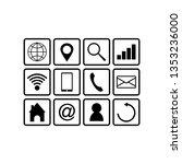 web icon set logo vector  | Shutterstock .eps vector #1353236000
