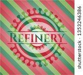 refinery christmas style emblem. | Shutterstock .eps vector #1353246386