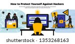 hacker background with online... | Shutterstock .eps vector #1353268163
