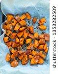 sliced butternut squash...   Shutterstock . vector #1353282509