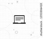 laptop  vector best flat icon... | Shutterstock .eps vector #1353306410