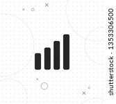 growing graph  vector best flat ... | Shutterstock .eps vector #1353306500