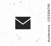 e mail  vector best flat icon... | Shutterstock .eps vector #1353306740