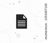 document  file  vector best... | Shutterstock .eps vector #1353307130