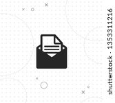 mail  vector best flat icon on... | Shutterstock .eps vector #1353311216