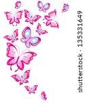 Stock vector butterflies design 135331649