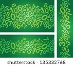 abstract green number background