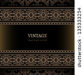 vintage vector background ... | Shutterstock .eps vector #135333254