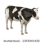 cow isolated. 3d rendering | Shutterstock . vector #1353341420