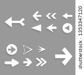 arrow icon set isolated on gray ... | Shutterstock .eps vector #1353347120
