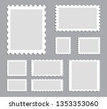 blank postage stamps template... | Shutterstock .eps vector #1353353060