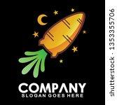 carrot logo. carrot rocket logo ... | Shutterstock .eps vector #1353355706