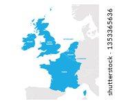 West Europe Region. Map Of...