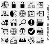 Web And Mobile Vector Icon Set.