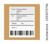 shipping bar code label sticker ... | Shutterstock .eps vector #1353375746