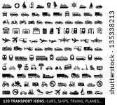 120 transport icons  cars ...
