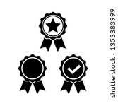 award icon set in flat style....