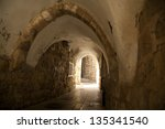 A Pedestrian Arched Tunnel In...