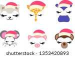 a collection of faces of... | Shutterstock .eps vector #1353420893