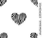 seamless pattern of heart shape ... | Shutterstock .eps vector #1353426410
