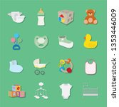 baby icons collection  vector... | Shutterstock .eps vector #1353446009