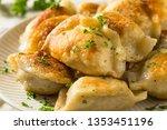 homemade fried polish potato...   Shutterstock . vector #1353451196