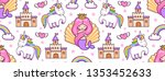 magic seamless pattern with...   Shutterstock .eps vector #1353452633