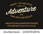 adventure. vintage brush script....   Shutterstock .eps vector #1353452876
