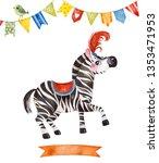 lovely circus set.illustration... | Shutterstock . vector #1353471953