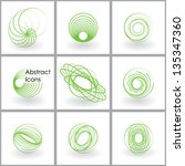 Abstract Icons Set. Vector Eps10