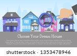 house rent banner  home... | Shutterstock .eps vector #1353478946