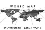 digital globe map isolated on... | Shutterstock .eps vector #1353479246