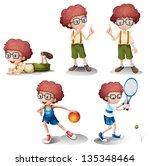 illustration of the five... | Shutterstock . vector #135348464