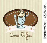 coffee icons   colorful... | Shutterstock .eps vector #135349004