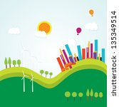 colorful city icons   concepts... | Shutterstock .eps vector #135349514