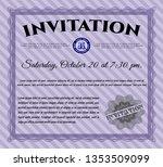 violet vintage invitation. with ... | Shutterstock .eps vector #1353509099