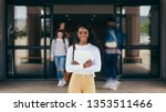 portrait of girl student... | Shutterstock . vector #1353511466