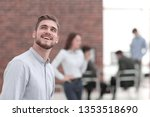 portrait of young businessman... | Shutterstock . vector #1353518690