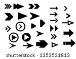 set arrow icons. arrow icon.... | Shutterstock .eps vector #1353521813