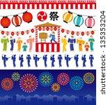 japanese summer festival.   Shutterstock .eps vector #135353204