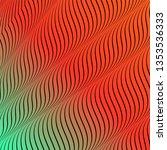 abstract acid color wavy... | Shutterstock . vector #1353536333