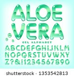an alphabet with the effect of...   Shutterstock .eps vector #1353542813