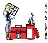 healthcare medical cartoon   Shutterstock .eps vector #1353553886