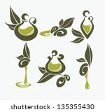 Green Olive And Oil   Vector...