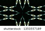 abstract colorful kaleidoscope... | Shutterstock . vector #1353557189
