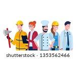 labor day job cartoon | Shutterstock .eps vector #1353562466