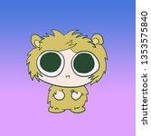 amused fluffy monster | Shutterstock . vector #1353575840